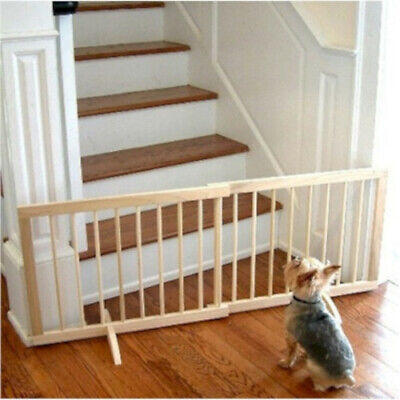 Over Wood Gate (Cardinal Step-Over Solid Wood Adjustable Pet Gate for Small Dogs Puppies )