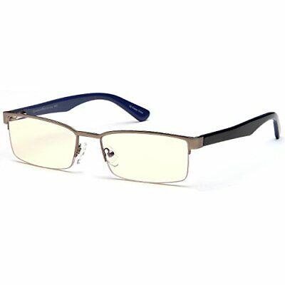 Gamma Ray Blue Light Blocking Glasses - Amber Tin Eye Strain Reducing for TV (Eye Strain Reducing Glasses)