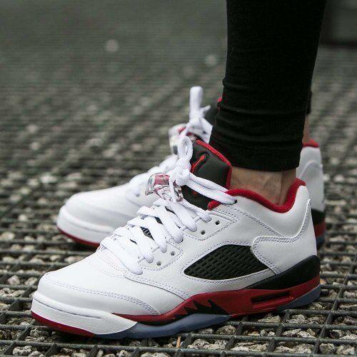 8e8df8b169d Nike Air Jordan 5 Retro Low GS SZ 4.5Y Fire Red White 314338-101