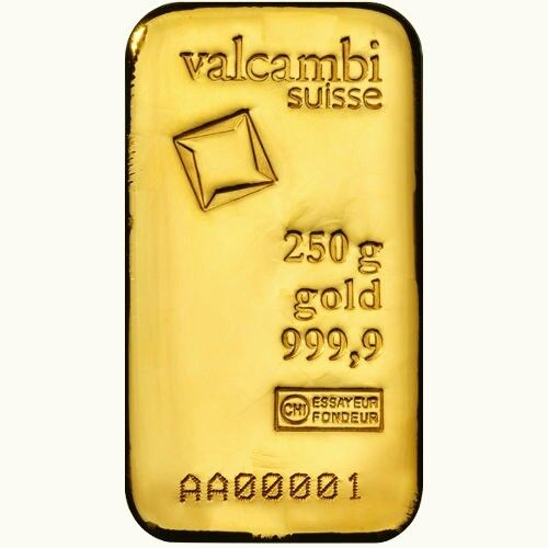 250 Gram Valcambi Gold Bar , Gold jewelry 10% discount today only .