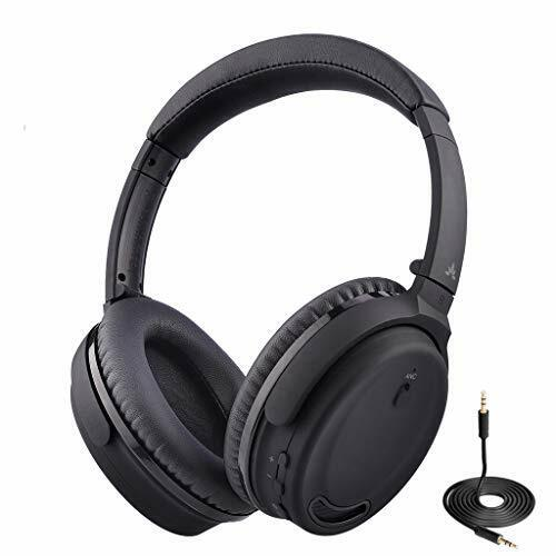 Avantree ANC032 Active Noise Cancelling Headphones Over Ear with Microphone for