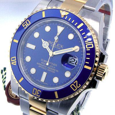 ROLEX SUBMARINER 116613 TWO TONE BLUE DIAL CERAMIC BEZEL 116613