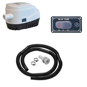 kit complet pompe de cale 48l min interrupteur 12v ebay. Black Bedroom Furniture Sets. Home Design Ideas