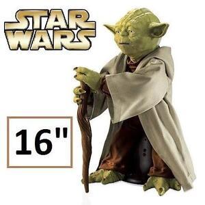 "NEW STAR WARS 16"" JEDI MASTER YODA LEGENDARY YODA - SPIN MASTER 110510236"