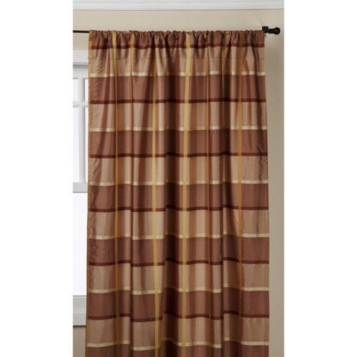 Brown Plaid Valance Ebay