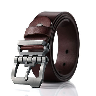Leather Jean Casual Belt - Casual Men's Genuine Leather Whole Cowhide Waistband Waist Strap Jeans Belts