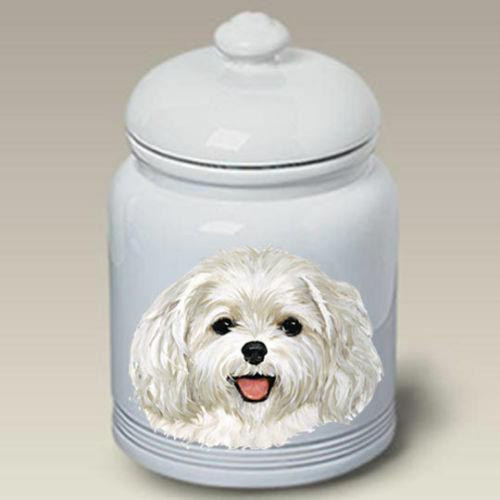 Maltese Puppy Ceramic Treat Jar LP 45197