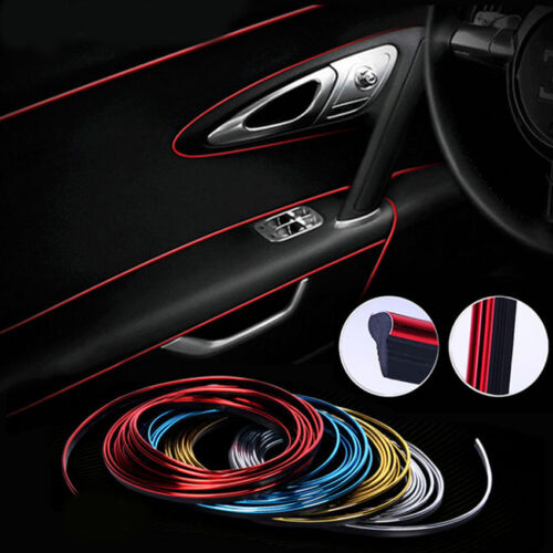 5M Car DIY Interior Decor Door Sticker Moulding Styling Strip Trim Decals Line