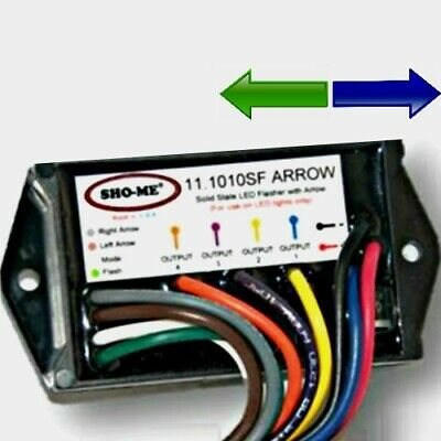 Sho-me 11.1010sf Arrow 4-output Led Flasher Public Safety Public Works