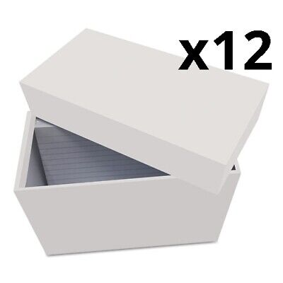 Index Card Box With 100 Ruled Index Cards 3 X 5 Gray Pack Of 12