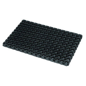 Rondo Rubber Contemporary Front Back Door Floor Mat Ring Design for Outdoor Use