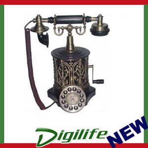Antique Reproduction 1893 Vintage Coffee Mill Telephone