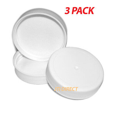 3PK Lot Replacement Screw-On Cap Caps 3 & 5 Gallon 48mm Water Bottle Made USA