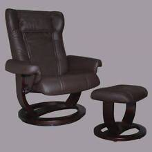 PAIR OF MORAN - Active Comfort Leather Recliners and Footstools Gerringong Kiama Area Preview