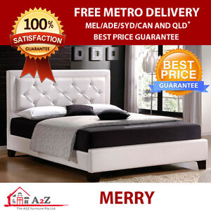 Brand NEW Merry Size PU Leather BED Frame Multicolor EBay