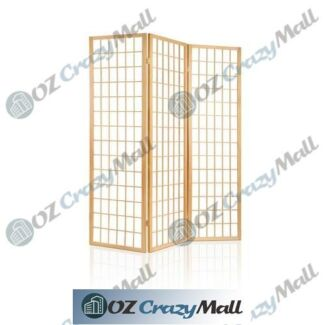 New Zealand Pine Wood Humidity Resistant 3 Panel Room Divider