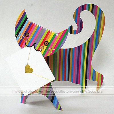 001 Greeting Card - 3D Special Delivery Greeting Card - Cat