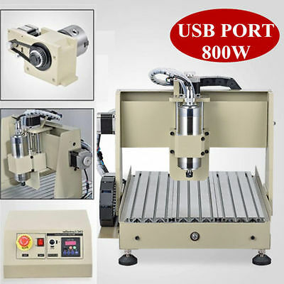 Usb 4axis 3040 Cnc Router Engraver 800w Spindle Engraving Cutter Milling Desktop