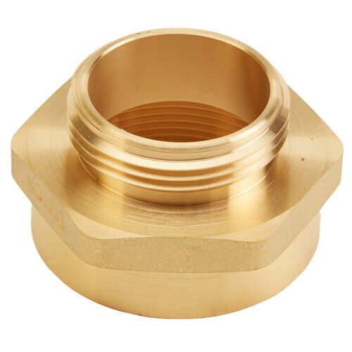 """Brass 2"""" Female NPT to 1 1/2"""" Male NH (Hex)"""