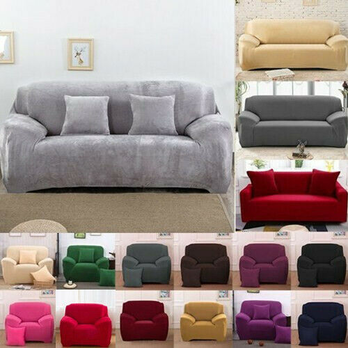 Easy Fit Sofa Slipcover Stretch Protector Soft Couch Cover T