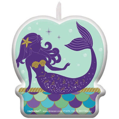 MERMAID WISHES CAKE CANDLE ~ Birthday Party Supplies Decoration Cupcake Summer