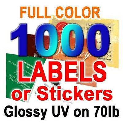 1000 CUSTOM PRINT LABELS, STICKERS Full Color 2x3.5 ...