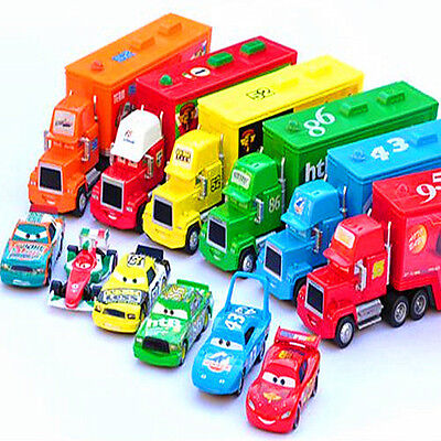 NEW!Disney Pixar CARS 43/95/86 King/Chick Hicks/Francesco/MACK HAULER Truck Toy