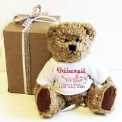 Personalised Teddy Bear Bridesmaid
