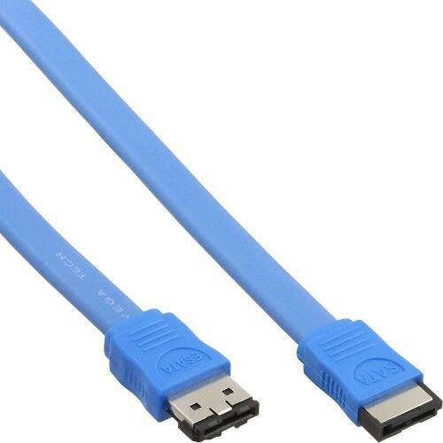 50cm INLINE® ESATA AUF SATA 3GB/S EXTERNES ANSCHLUSSKABEL GESCHIRMT BLAU BLUE