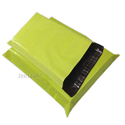 100 Neon Green Postal Bags Mailing Parcel Plastic Strong Poly 12