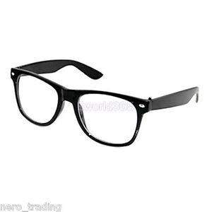 Wayfarer Glasses Clear Lens Nerd Geek Party Retro Vintage Trendy Sunglasses uk