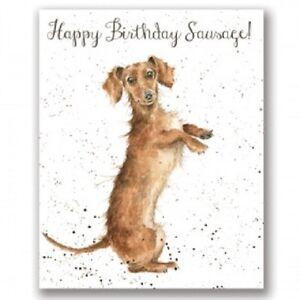 Wrendale Happy Birthday Greeting Card Dachshund daschund dog sausage