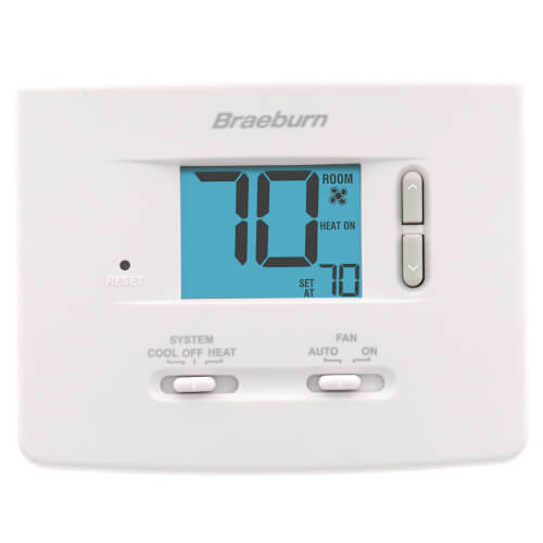 Braeburn 1020NC Single-Stage Dual Powered Non Programmable Thermostat 1H/1C