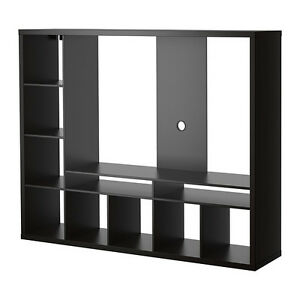 TV storage unit, black-brown
