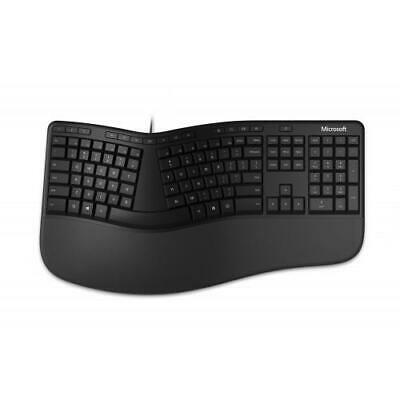 Microsoft Ergonomic Keyboard Black - Wired Connectivity - Fe