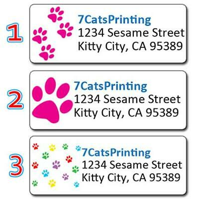 Paw Prints Personalized Address Labels Kitty Dog Cat