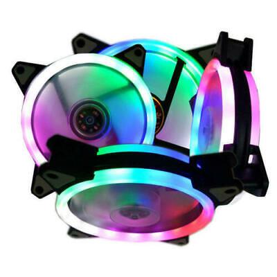 1pc 120mm White LED Cooling Fan 12V 4Pin to 3Pin RGB Computer Case PC CPU Fan