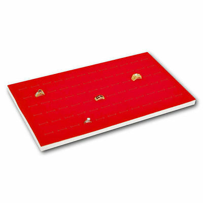 New 4 Jewelry 72 Slot Ring Foam Display Insert Pad Red
