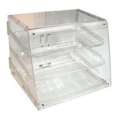 Winco Adc-3 21x18x16.5-inch Clear Acrylic Countertop Display Case With 3 Trays
