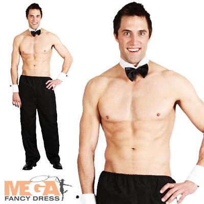 Party Boy Stripper Men's Fancy Dress Stag Hen Party Play Boy Fun Uniform - Playboy Party Kostüm