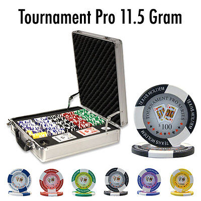 NEW 500 Tournament Pro 11.5 Gram Clay Poker Chips Set Claysmith Case Pick Chips