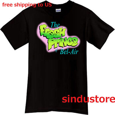 The Fresh Prince of Bel-Air 90s TV show Black t-shirt size S