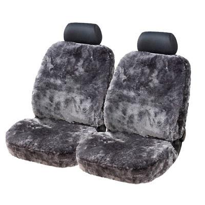 Universal Sitzbezug Sitzbezüge ECHTFELL anthrazit für AUDI und BMW Modelle