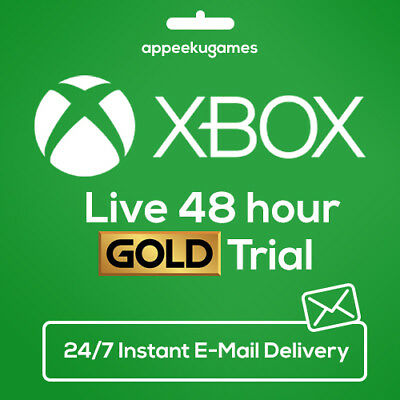 XBOX LIVE 48 HOUR 2 DAYS GOLD TRIAL CODE 48HR - INSTANT DISPATCH (Xbox Live Gold 24 Hour Trial Code)