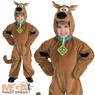Deluxe Scooby Doo Childs Fancy Dress Boys Kids Cartoon Dog Halloween Costume ()