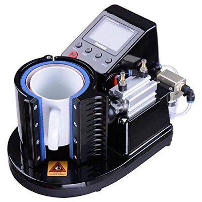 11oz Pneumatic Mug Heat Press Machine Sublimation Mug Cup Diy Images Free Ship