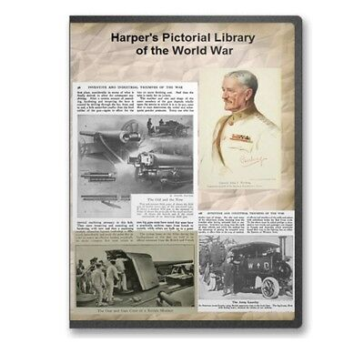Harper&apos s Pictorial Library of the World War 12 Volume Set on DVD WWI A861