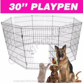 """Brand New 30"""" 8 PANEL PET PLAYPEN EXERCISE CAGE FENCE ENCLOSURE"""