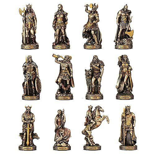 12 Norse Gods Set Odin Frigga Thor Tyr Baldur Freya Loki Skadi Valkyrie