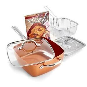 NEW Copper Chef 4 pc system, 6 in 1 pan